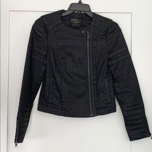 All Saints Size 4 Axelle Denim Moto Jacket